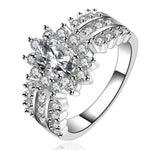 New Fashion Women's Crystal Silver Band Ring Of Passion Costume Jewelry - J.S Jewellers & Co