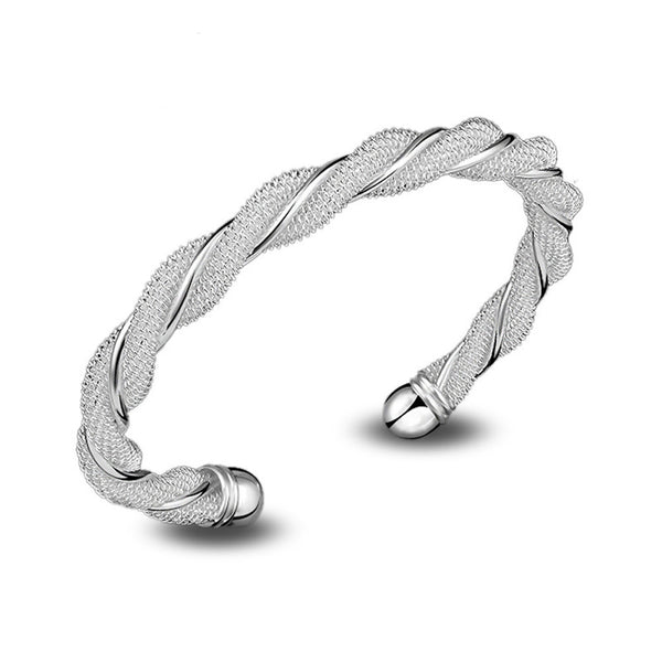 Latest Fashion Jewelry Silver Lady's Charm Winding Bracelet Gift Costume Jewelry - J.S Jewellers & Co