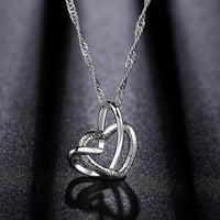 Intertwined Heart Of Love Necklace Pendant Costume Jewelry - J.S Jewellers & Co