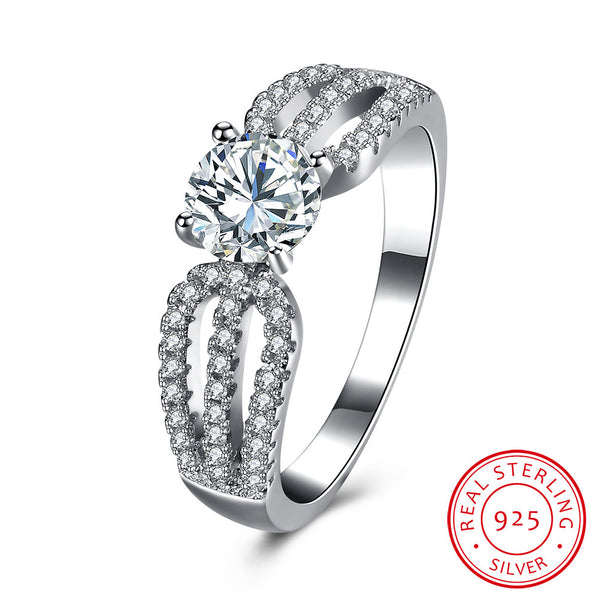 Beautiful 925 Sterling Silver Stone Ring Jewelry Costume Jewellery - J.S Jewellers & Co