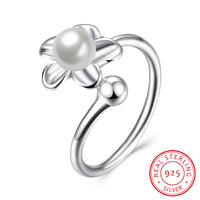 925 Sterling Silver Ring Plain Unique Flower Like Shape Silver Costume Jewellery - J.S Jewellers & Co
