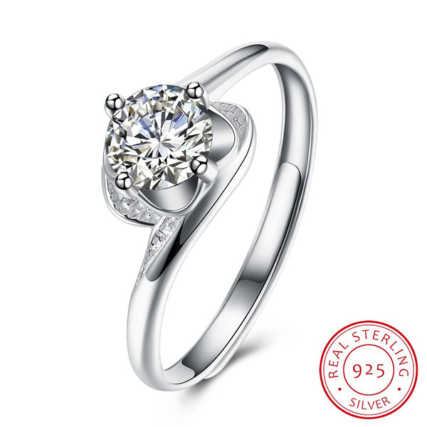 925 Sterling Silver Ring Latest Fashion Design Flat Ring Costume Jewelry - J.S Jewellers & Co