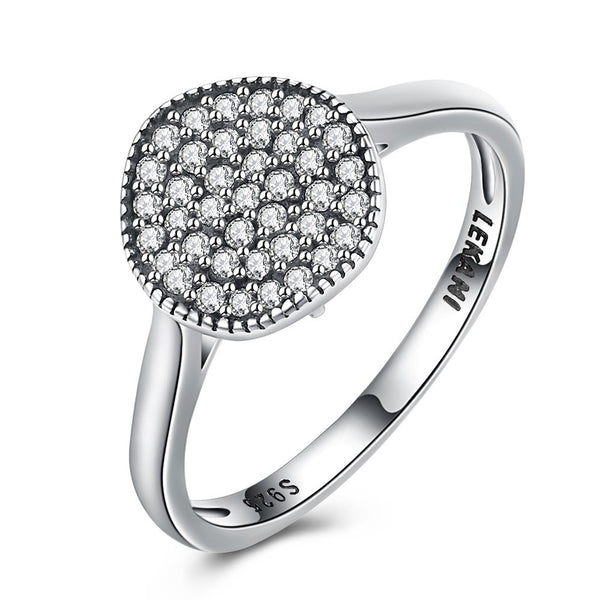 925 Sterling Silver Ring Old School Round Retro style zirconium ring Costume Jewelry - J.S Jewellers & Co