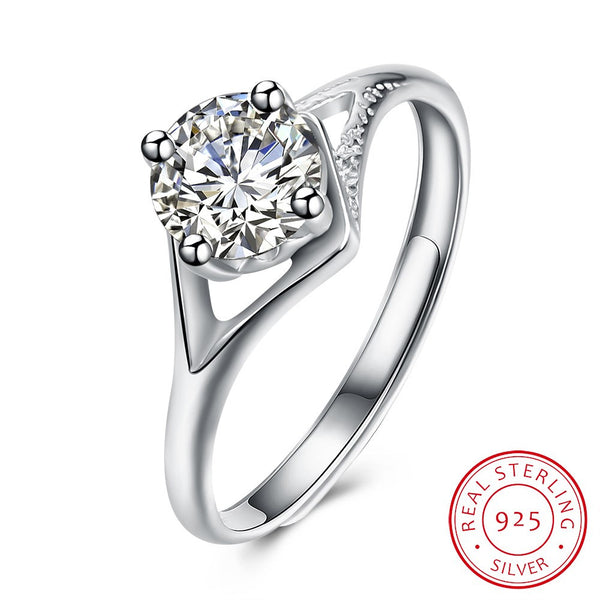 925 Sterling Silver Ring Latest Fashion Design Platinum Ring for Ladies Party Costume Jewelry - J.S Jewellers & Co