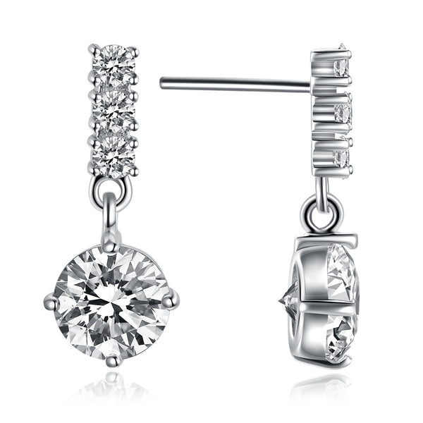 Attractive 925 Sterling Silver Alluring Earrings For Women Accessories Costume Jewelry - J.S Jewellers & Co