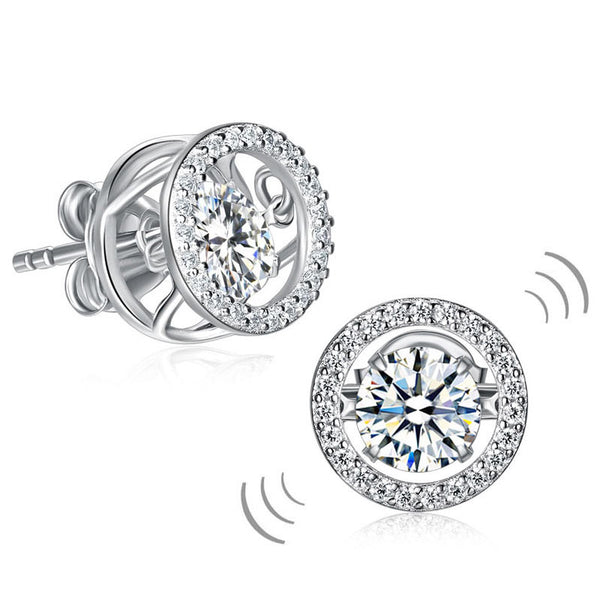 Irresistible Classy Stone Stud Earrings Solid 925 Sterling Silver Earrings Gift For Women Costume Jewelry - J.S Jewellers & Co