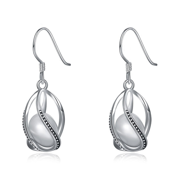 S925 Silver Earrings Classy Pearl Earrings For Ladies Fashion Design Costume Jewelry - J.S Jewellers & Co
