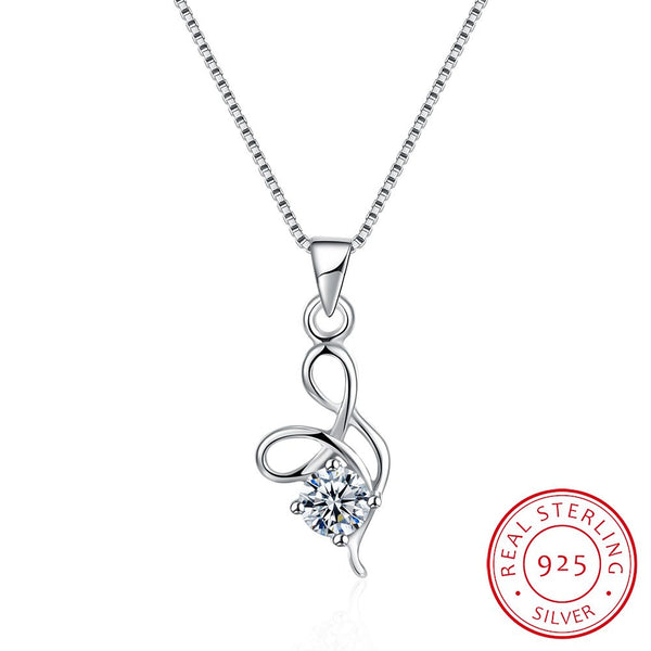 925 Sterling Silver Necklace Trendy Latest Design Necklace Platinum Pendant Necklace Costume Jewelry - J.S Jewellers & Co
