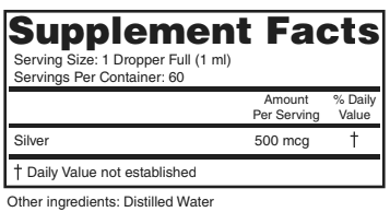 Colloidal Silver - 500 PPM