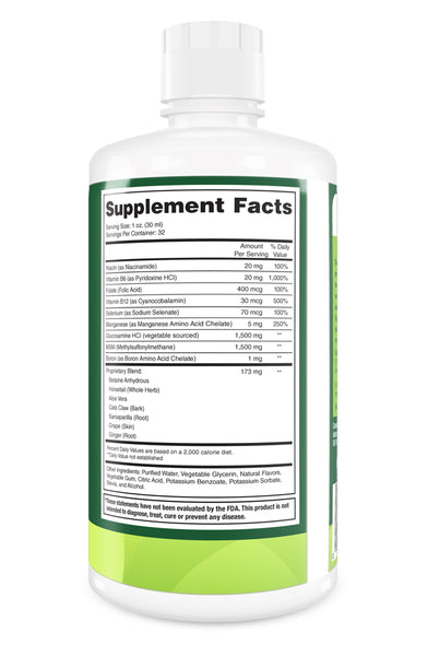 Vegetable Glucosamine - Shellfish Free Liquid Joint Supplement