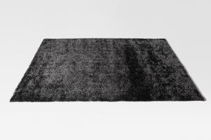 Machine Wooven Black Shaggy Rug