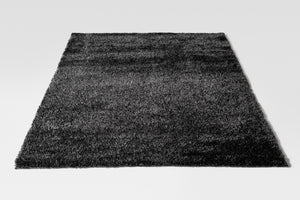Charcoal Black Shaggy Rug