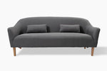Jayden 3 Seater Light Grey Couch front view