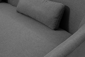 Jayden 3 Seater Light Grey Couch material