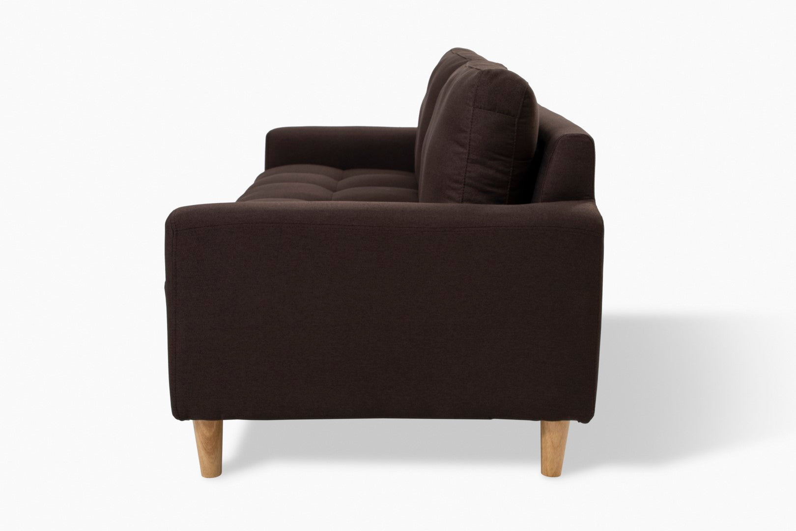 Sophia 3 Seater Taupe Couch side view