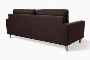 Sophia 3 Seater Taupe Couch back view