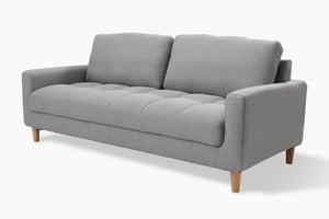 Sophia 3 Seater Light Grey Couch