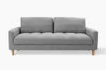 3 Seater Light Grey Couch front view
