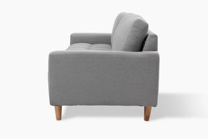 3 Seater Light Grey Couch side view