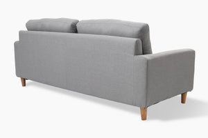 3 Seater Light Grey Couch back view