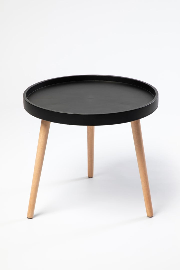 Lynt Black Round Table