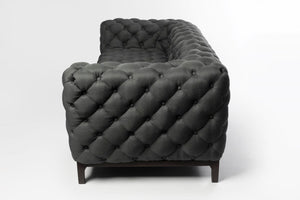 Dakota 3 Seater Chesterfield Dark Grey Couch