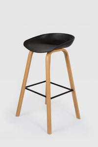 Penuche Black Bar Stool