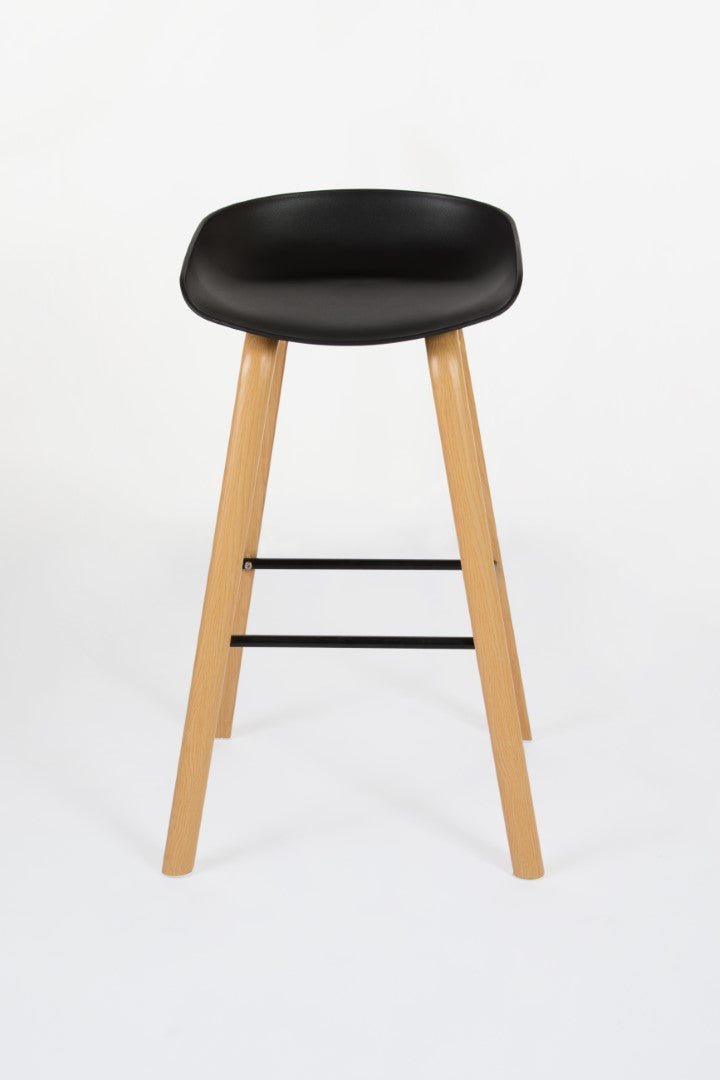 Penuche Black Bar Stool front view