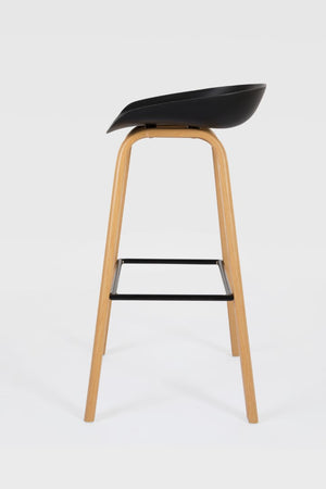 Penuche Black Bar Stool side view