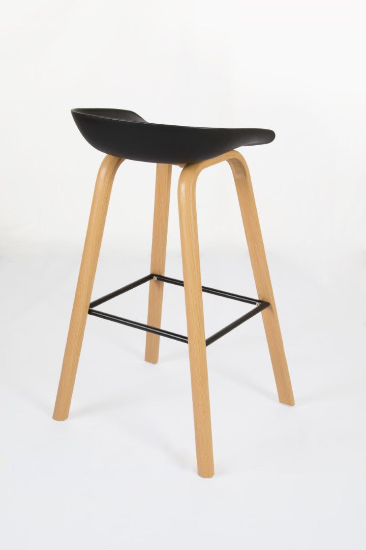 Penuche Black Bar Stool rear view