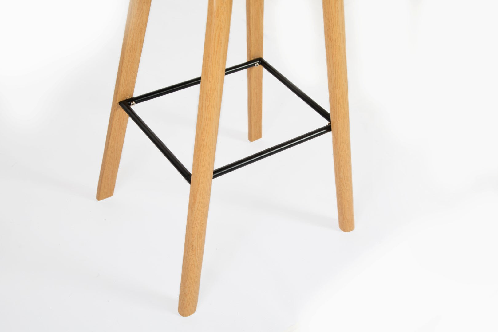 Penuche Black Bar Stool steel legs vinyl covered