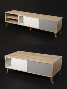 Ada TV Stand & Tao Coffee Table Combo