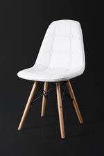 Sassel White Dining Chair