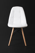 White Dining Chair Front View