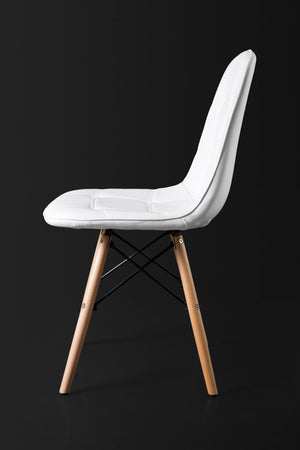 White Dining Chair side view