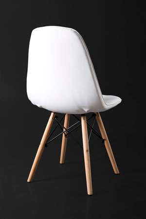 White Dining Chair back view