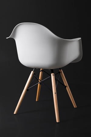 Arica Light Grey Dining Chair back view