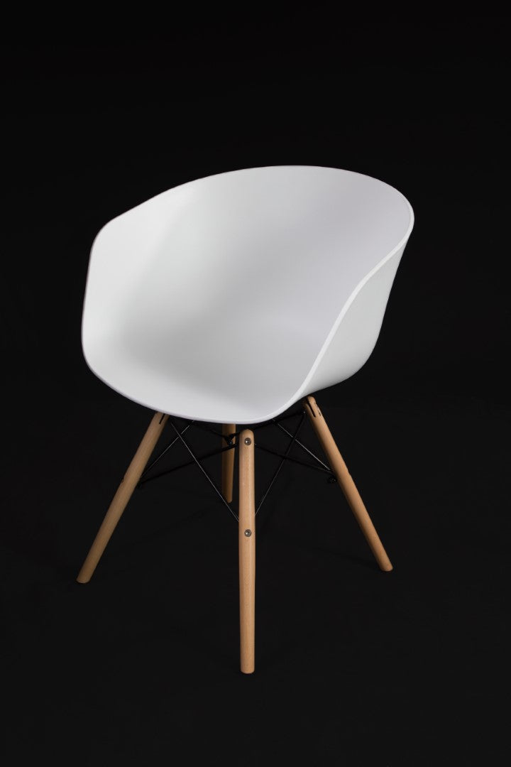 Brae White Dining Chair