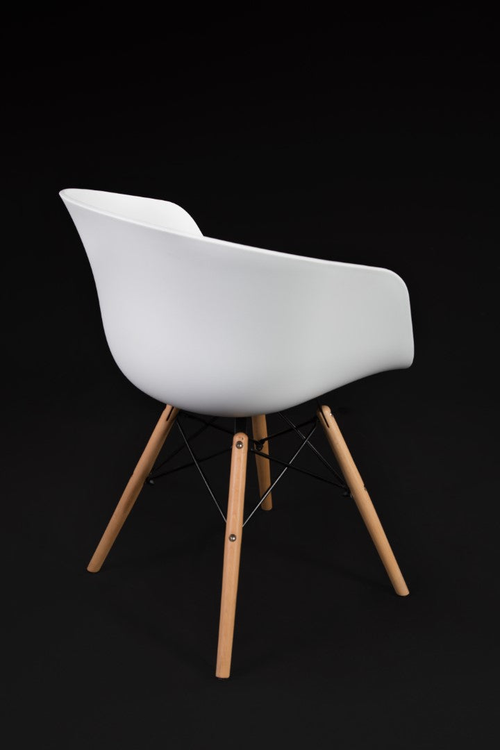 Brae White Dining Chair back view