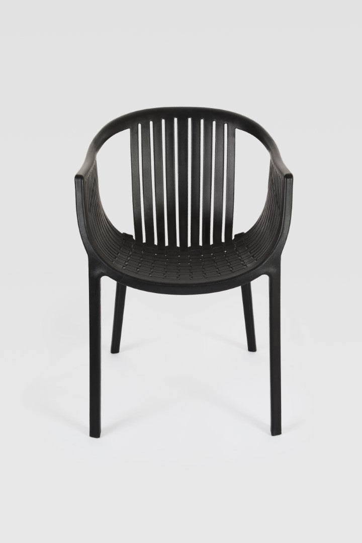 Cala Black Chair front view
