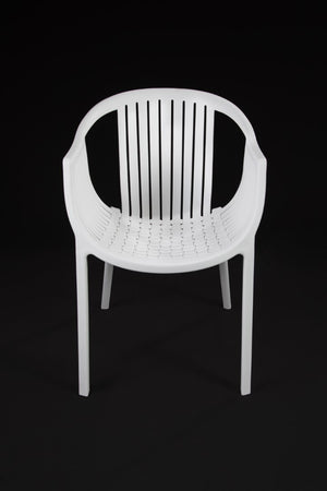 Cala White Chair front view