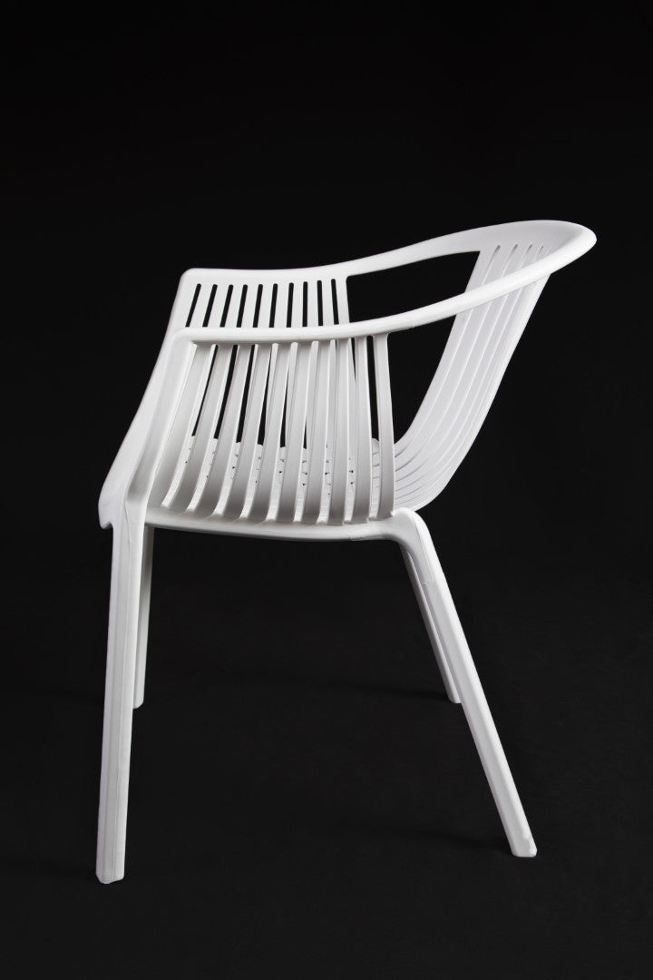 Cala White Chair side view