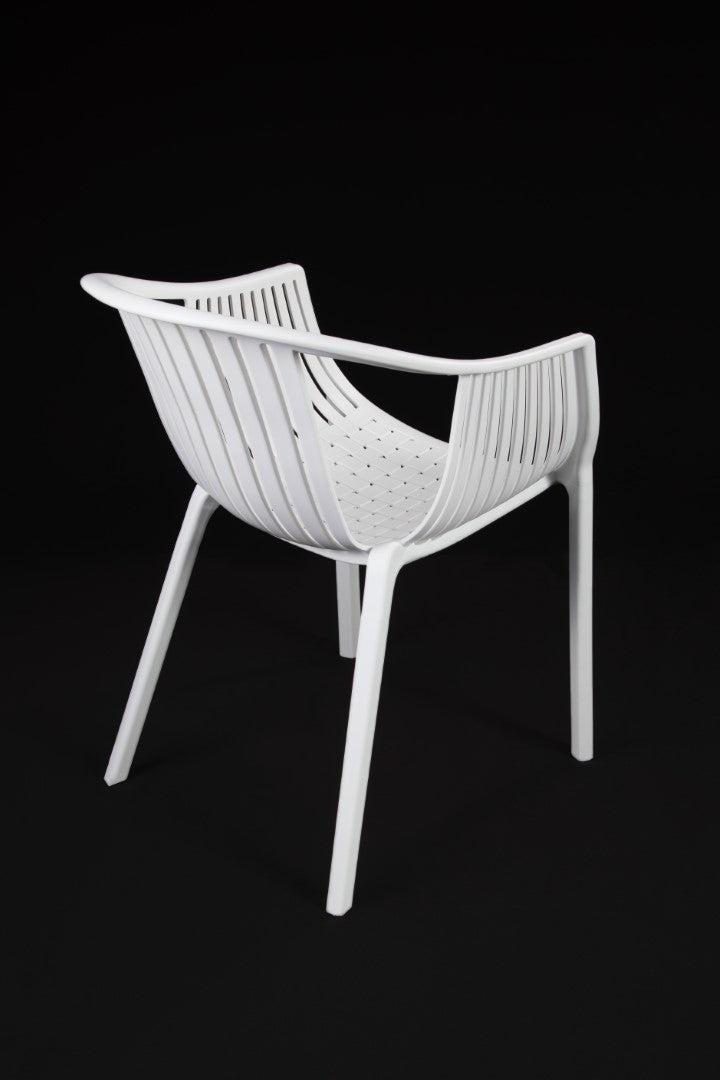 Cala White Chair rear view