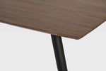 Tia Dinning room table dark wood