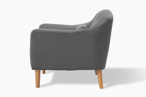 Reeve Light Grey Occasional Chair side view