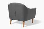 Reeve Light Grey Occasional Chair rear view