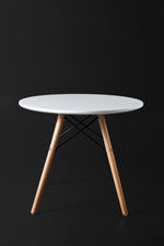 Eleko White Round Side Table