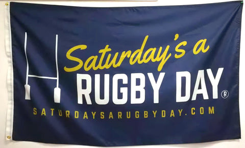 Saturday's a Rugby Day Flag