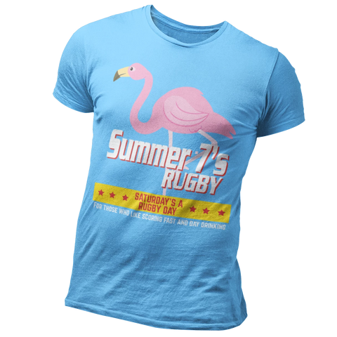 Summer 7's 2019 T-Shirt - Saturday's A Rugby Day