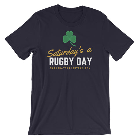 Saturday's a Rugby Day Shamrock Short-Sleeve Unisex T-Shirt - Saturday's A Rugby Day